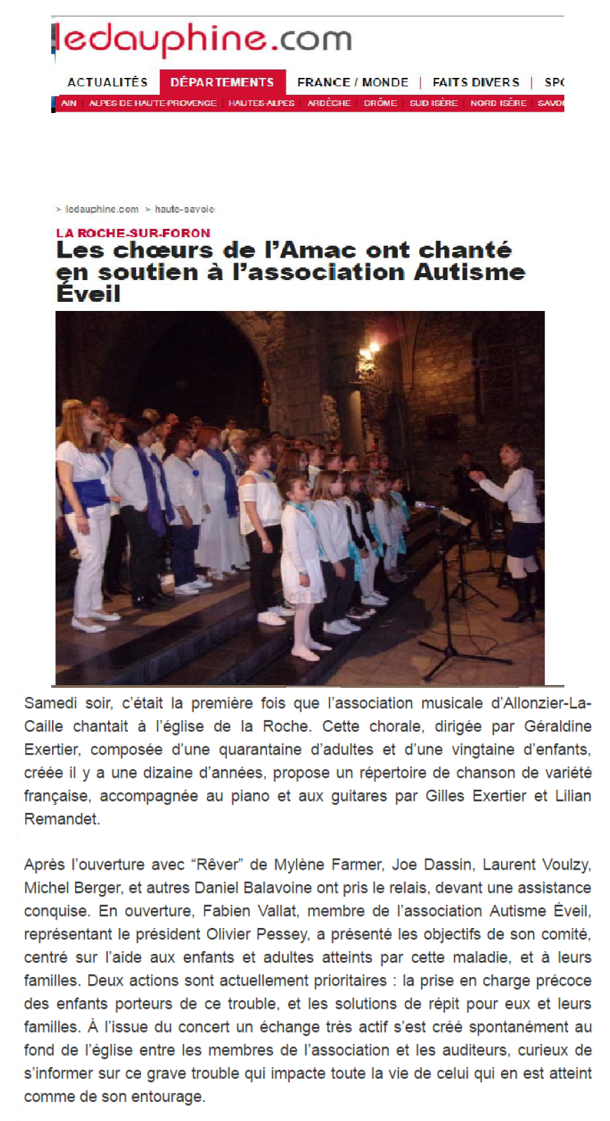 article concert AMAC 2 avril